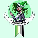 I was sorted into the Aromantic House by evocaitart