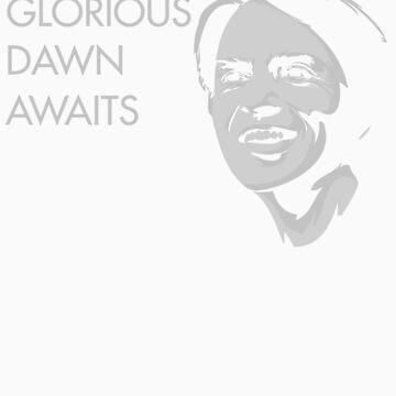 Carl Sagan - A Glorious Dawn (Grey) by sciencemerch