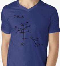 Darwin I Think Tree (Black) Men's V-Neck T-Shirt