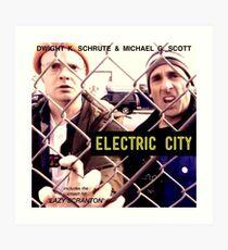 Electric City Album Artwork Art Print