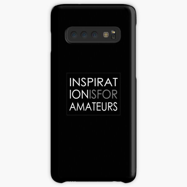 Inspiration Is For Amateurs Motivation Slogan (Dark Theme) Samsung Galaxy Snap Case