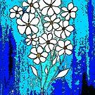 Flowers in Blue by Linda Callaghan