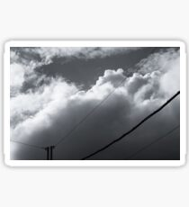 Layers of white clouds in the sky Sticker