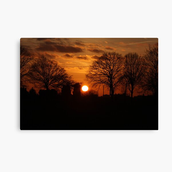 Sunset Calendar 10 Canvas Print