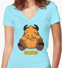 GNU...is NOT the same as UNIX! Women's Fitted V-Neck T-Shirt