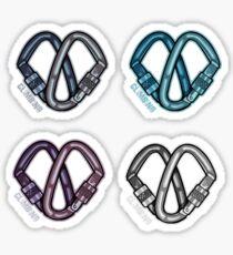 I Love Climbing -  B&W Sticker