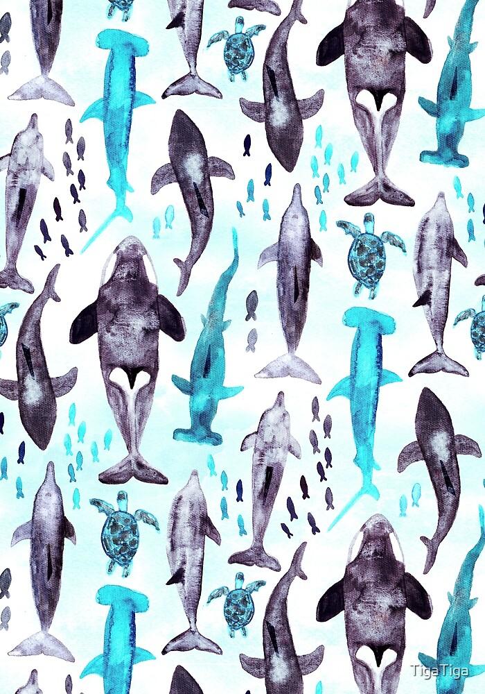 Ocean Animals  by TigaTiga