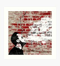 Graffiti Man Vaping Art Print