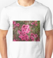 Pink Flower Power Unisex T-Shirt