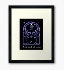Speak friend and enter (Dark tee) Framed Print