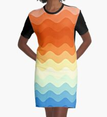 Farbwellen #abstract #illustration #pattern T-Shirt Kleid
