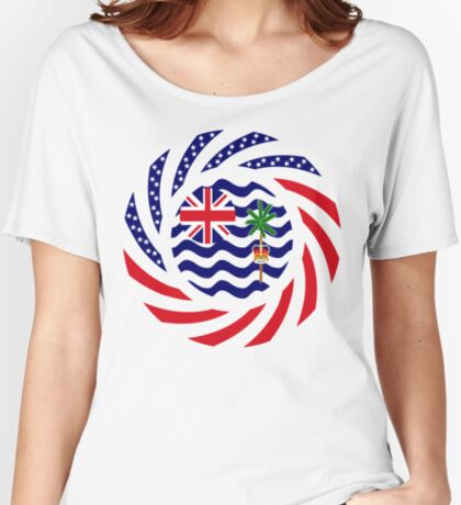 British Indian American Multinational Patriot Series Relaxed Fit T-Shirt