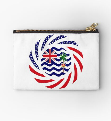 British Indian American Multinational Patriot Series Zipper Pouch