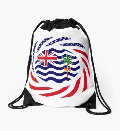 British Indian American Multinational Patriot Series Drawstring Bag