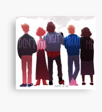 the club of five Canvas Print
