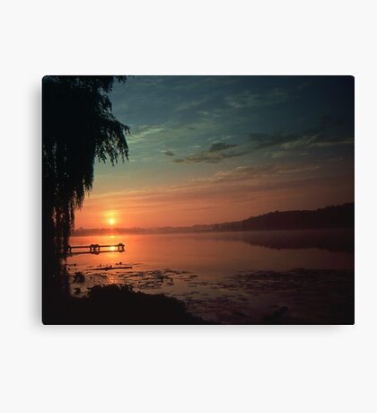 Sunset Over the Dock Canvas Print