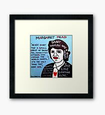 Margaret Mead Pop Folk Art Framed Print