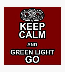Green Light Go! Photographic Print