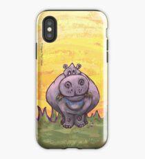 Tierparade Hippopotamus iPhone-Hülle & Cover