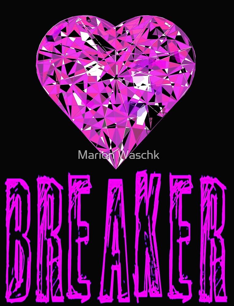 Heart Breaker - Herzensbrecher - schwarz pink von Marion Waschk