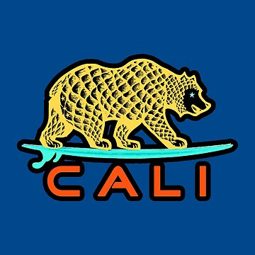 Cali Bear (Yellow with Black Border) by supermejias
