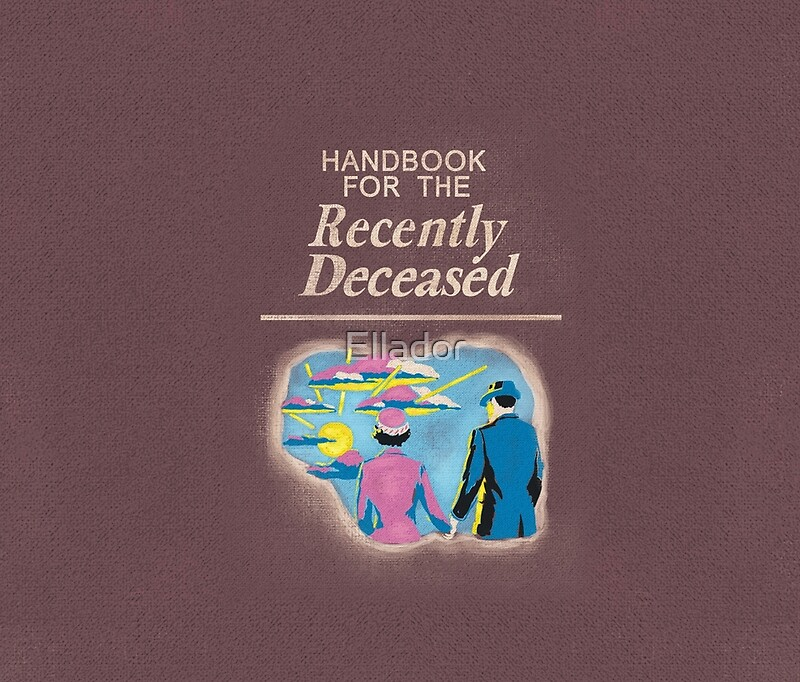 Printable Book Cover Handbook For The Recently Deceased : Quot handbook for the recently deceased travel mugs by