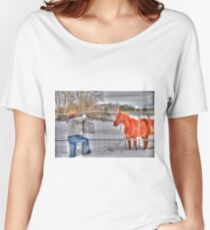 Lina and the Horse HDR Women's Relaxed Fit T-Shirt