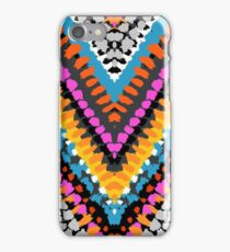 Chevron pattern wit dotted lines iPhone Case/Skin