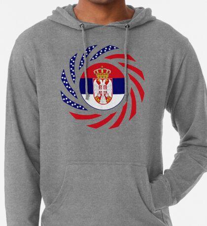 Serbian American Multinational Patriot Flag Series Lightweight Hoodie