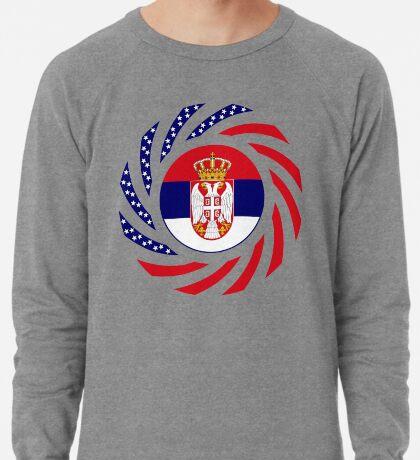 Serbian American Multinational Patriot Flag Series Lightweight Sweatshirt