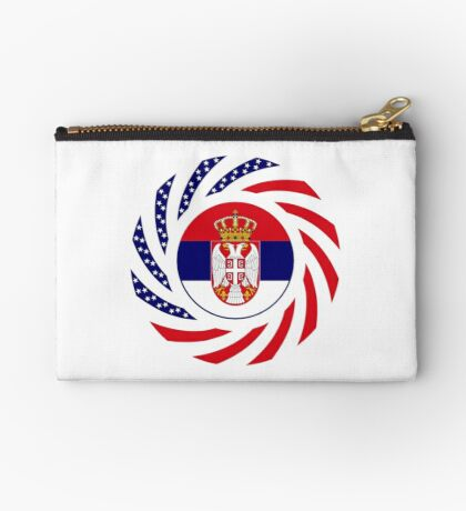 Serbian American Multinational Patriot Flag Series Zipper Pouch