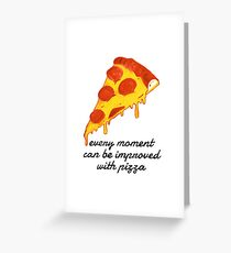 Pizza Heaven Greeting Card