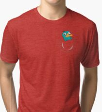 Perry the Platypus Pocket Tri-blend T-Shirt
