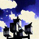 Birds on light post... by DDLeach
