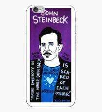 John Steinbeck Pop Folk Art iPhone Case