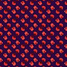Polka Red Roses (on Plum) by BigFatArts