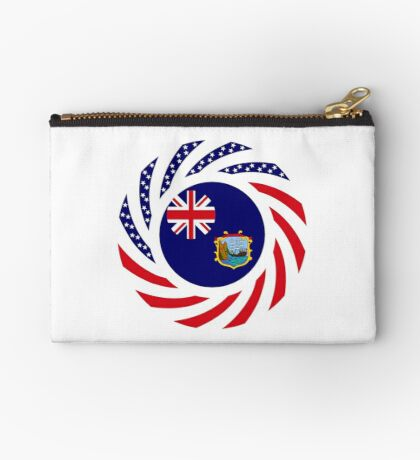 Saint Helena American Multinational Patriot Flag Series Zipper Pouch
