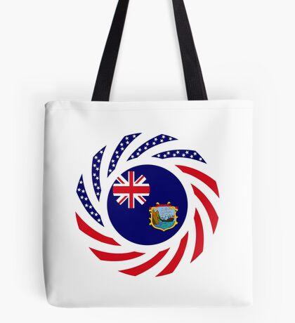 Saint Helena American Multinational Patriot Flag Series Tote Bag
