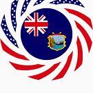 Saint Helena American Multinational Patriot Flag Series by Carbon-Fibre Media
