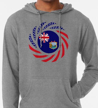 Saint Helena American Multinational Patriot Flag Series Lightweight Hoodie