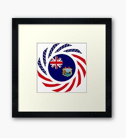 Saint Helena American Multinational Patriot Flag Series Framed Print
