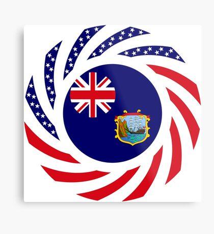 Saint Helena American Multinational Patriot Flag Series Metal Print