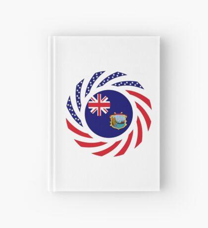 Saint Helena American Multinational Patriot Flag Series Hardcover Journal