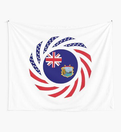 Saint Helena American Multinational Patriot Flag Series Wall Tapestry