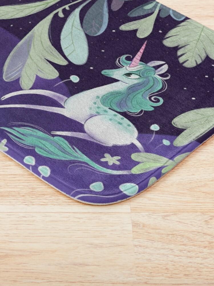 Alternate view of Starry unicorn Bath Mat