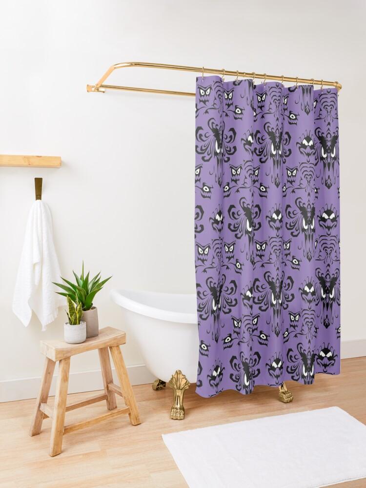 Alternate view of 999 Happy Haunts Shower Curtain