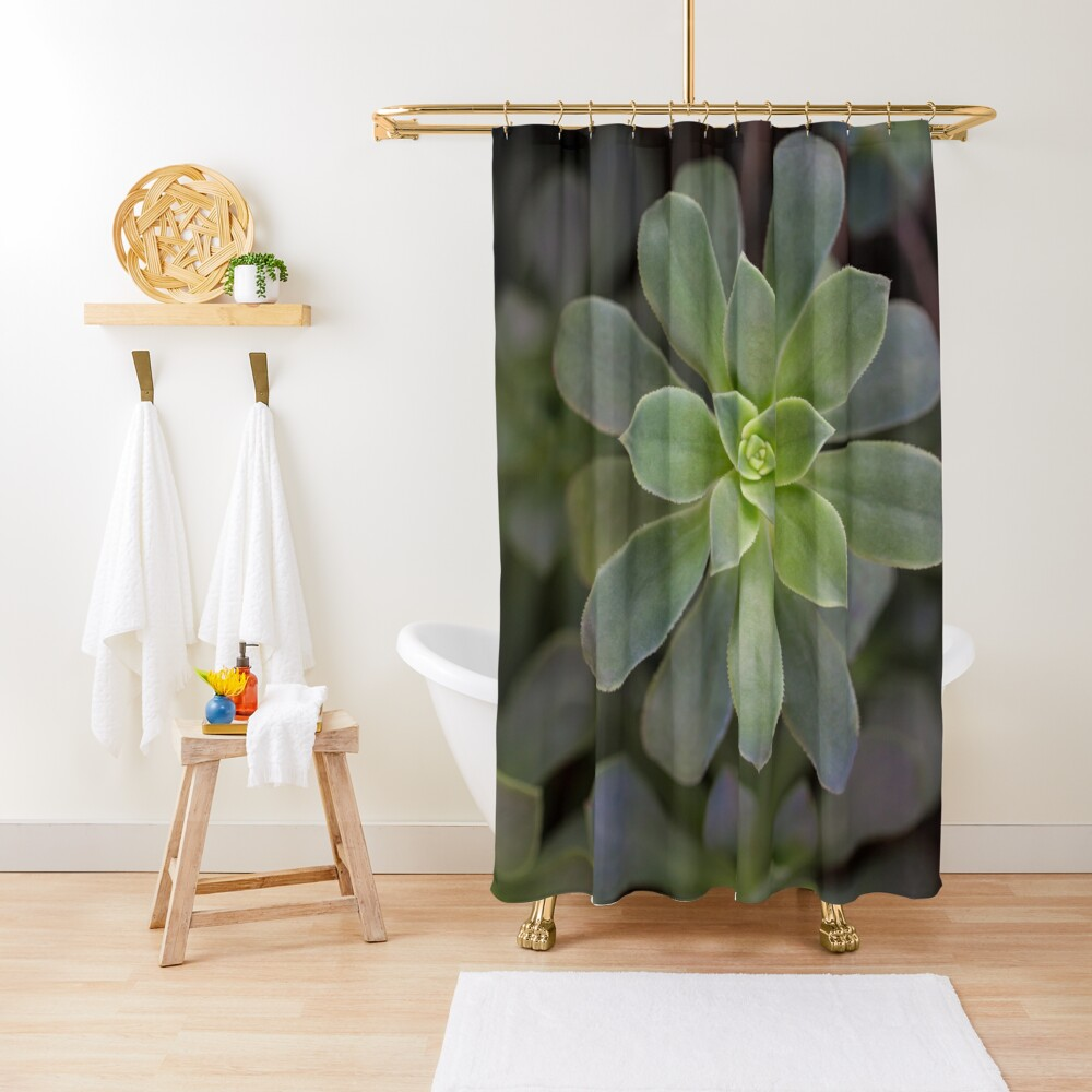 Zen Is Green Shower Curtain