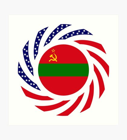 Transnistrian American Multinational Patriot Flag Series Art Print