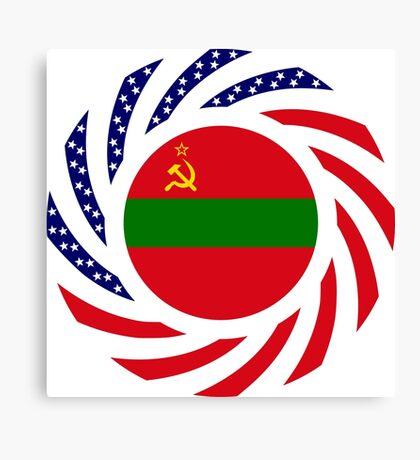 Transnistrian American Multinational Patriot Flag Series Canvas Print