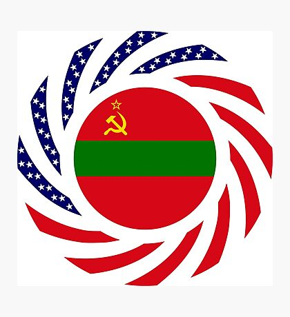 Transnistrian American Multinational Patriot Flag Series Photographic Print